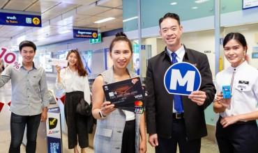 """""""เคทีซี"""" มอบสิทธิให้สมาชิกคุ้มค่าทุกเดินทาง ด้วยเครดิตเงินคืน 10% เมื่อเติมเงินบัตรโดยสารรถไฟฟ้าใต้ดินสายสีน้ำเงินและสายสีม่วง"""