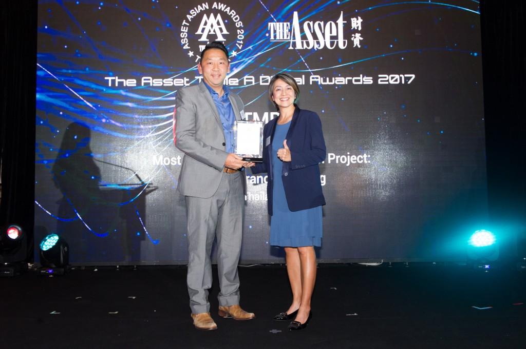 TMB รับมอบรางวัล Most Innovative Digital Branch Project